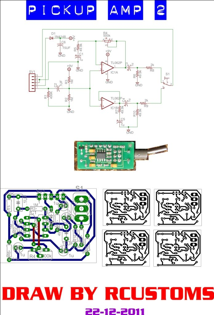 Emg Pa2 Wiring Diagram Mono Amp Schematic Pcb Layout Luthiery Pinterest