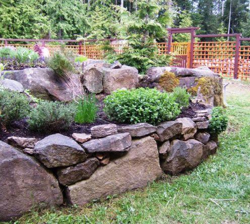rock raised garden bed ideas Gardening With Rocks   Gardening Ideas   Garden, Garden