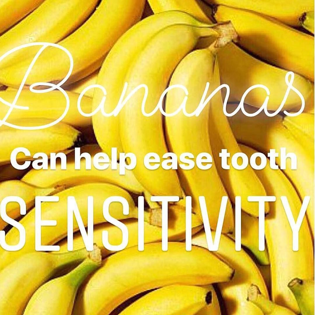 Teeth Are Fun: Sensitive Teeth? Have A Banana. Really. - #bananas #holisticdentist #oralhealth #paigewoods #sandiegodentist #sensitiveteeth -   Bananas contain all kinds of things that are good for you and your teeth – like potassium, manganese and lots of vitamins. And they contain a substance that can decrease sensitivity too. Plus, they satisfy a sweet tooth without sticking to teeth. So let's hear it for good ol' bananas. Learn more about stopping sensitivity at your free oral health consult