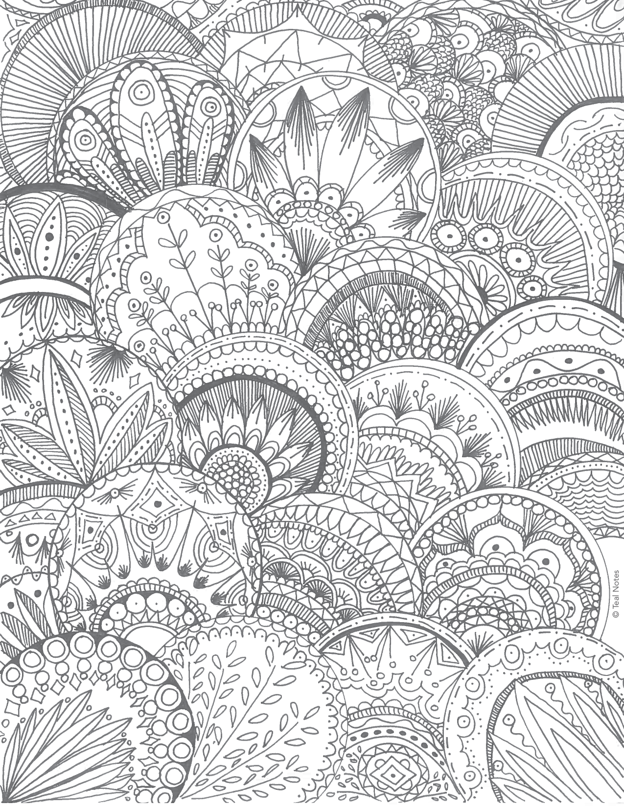 Free Printable Coloring Pages: 10 NEW Printable Coloring To Color And Relax