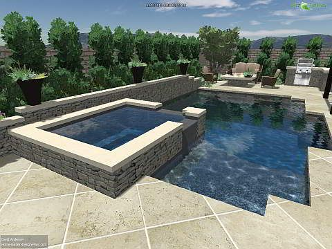 This Contemporary Inground Swimming Pool Design Uses Straight Lines To  Create A Backyard Space That Is