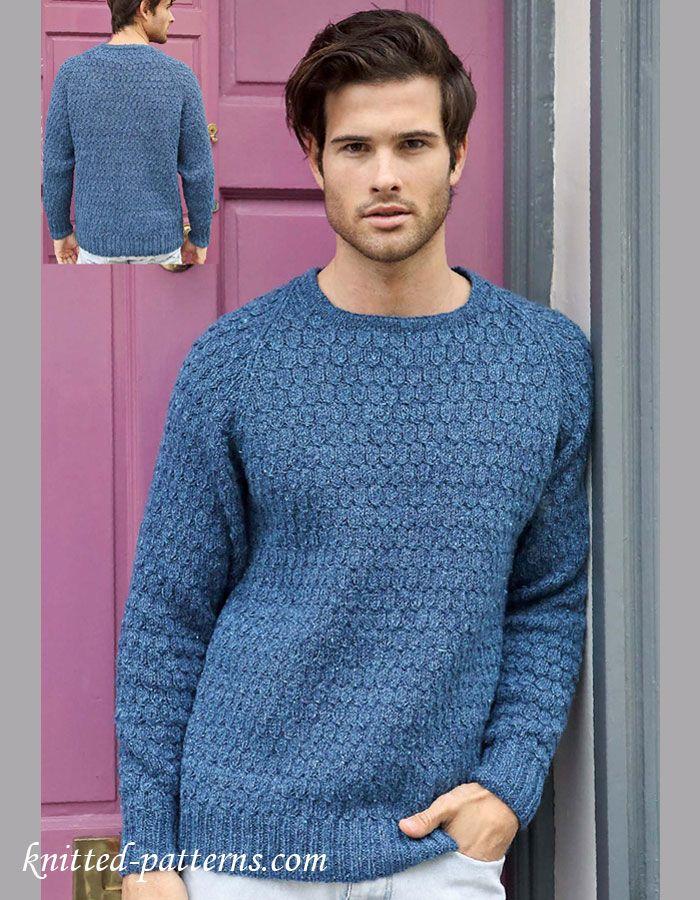 Men's jumper knitting pattern free | Free knitting patterns ...