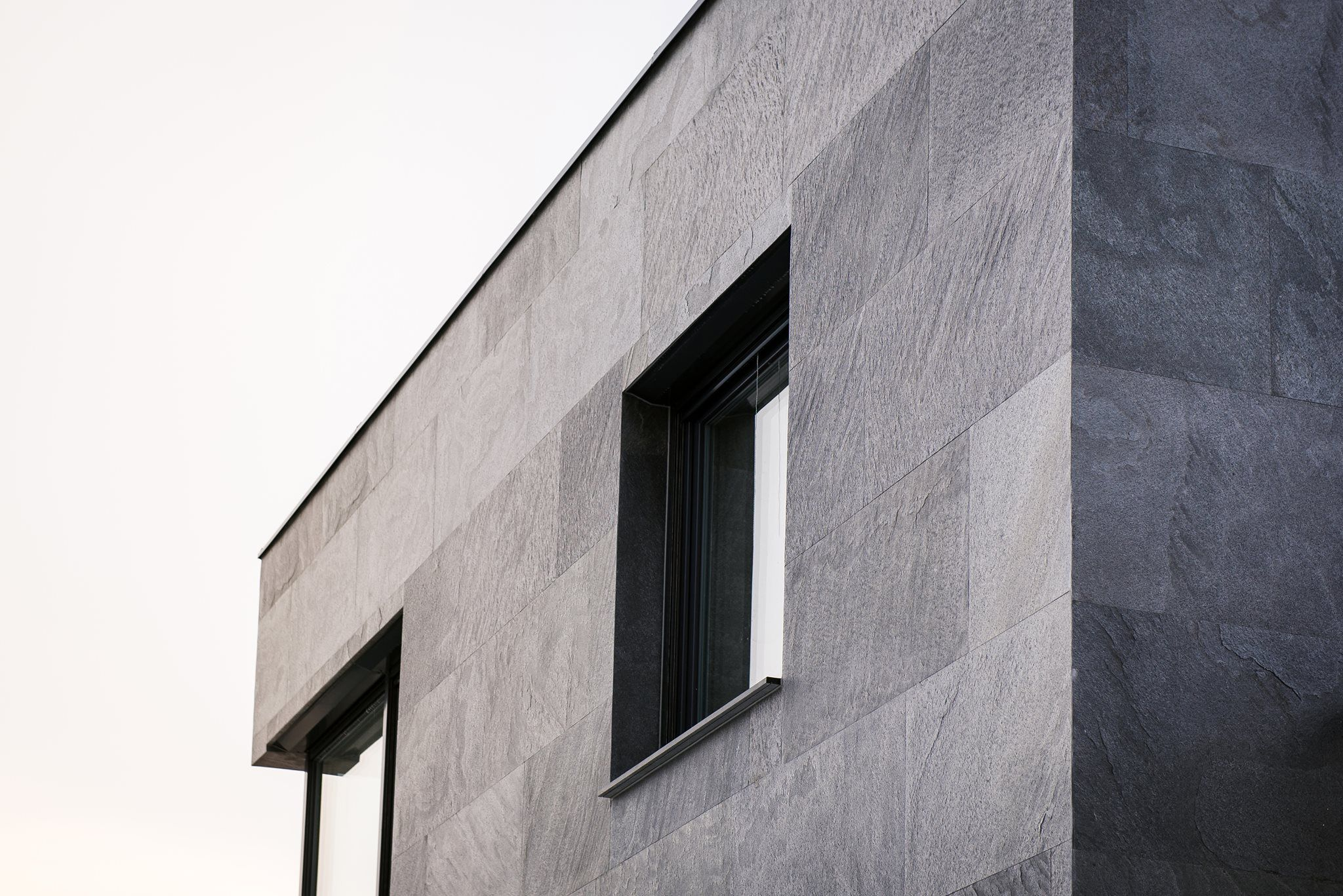 Facade with Slate Lite   Grey stone house, Facade architecture ...