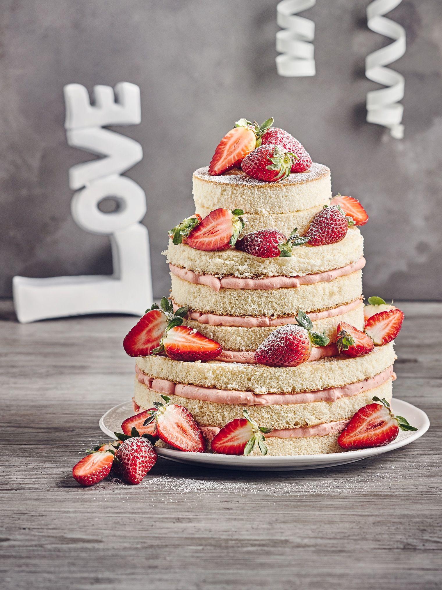 Hochzeitstorte Naked Rezept Torte Pinterest Cake Wedding