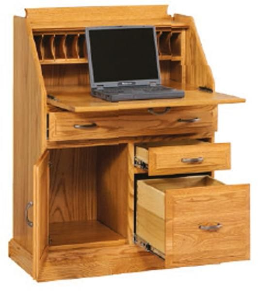 Secretary Desk W File Drawer Am 3262 Secretary Desks File
