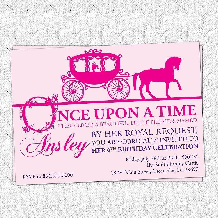 Princess Birthday Invitations Horse Party Invitation Ideas In 2018