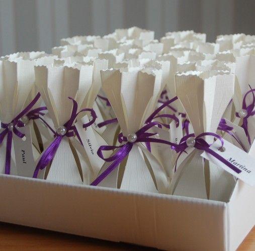 gastgeschenk tischkarte tischk rtchen hochzeit party s ckchen lila lila hochzeit pinterest. Black Bedroom Furniture Sets. Home Design Ideas