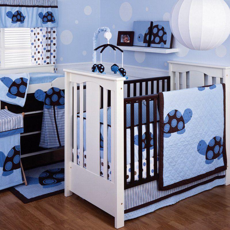 Have To Have It Kids Line Mod Turtle 4 Piece Crib Bedding Set