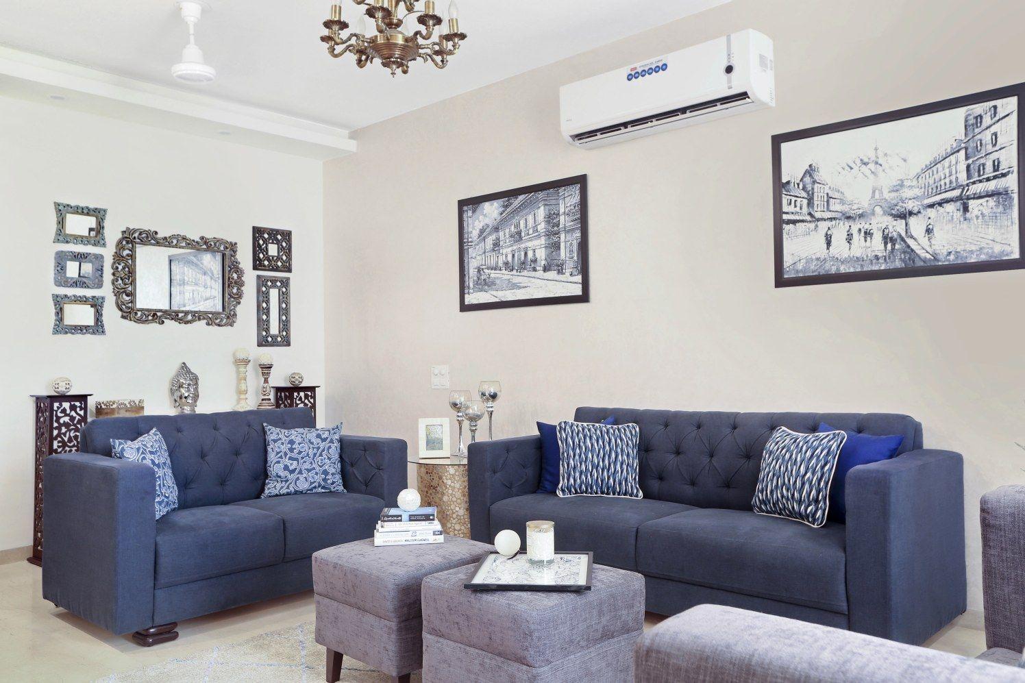 indigo blue sofas and stools urbanclaphomes homedecor