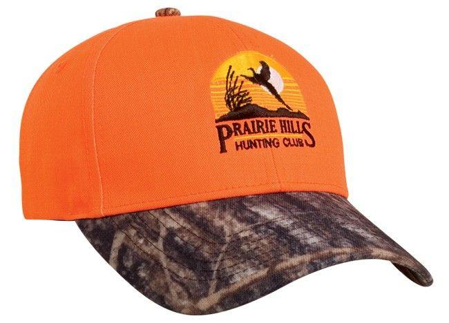 28d059e592e Blaze Orange Camo Velcro Adjustable Hat by Pacific Headwear Style Number  680C