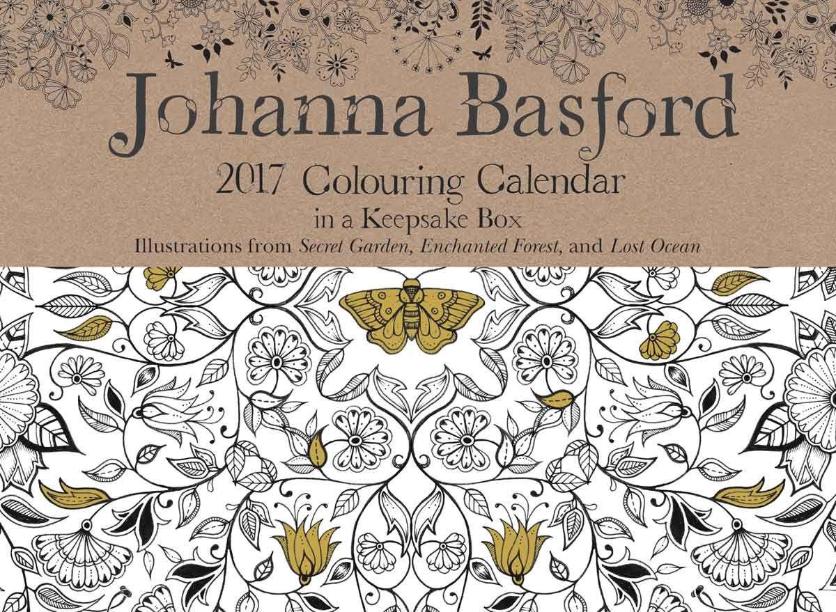 Johanna Basford Colouring Desk Calendar 2017
