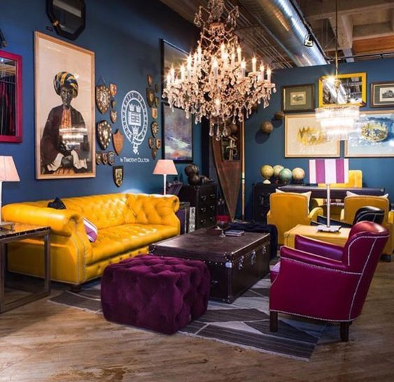 21 Colorful Living Rooms To Crave: Sexy Cool Themed Living Room With Splashes Of Color