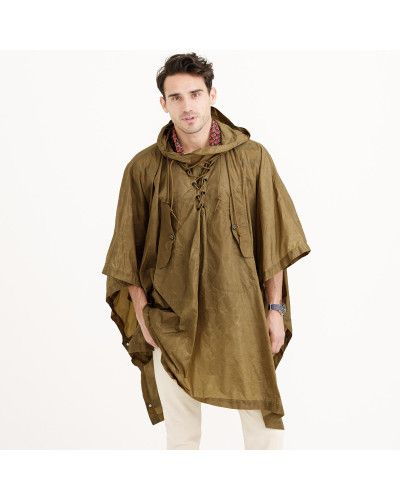 3710064d2e Men s Natural Wallace   Barnes Hooded Military Rain Poncho