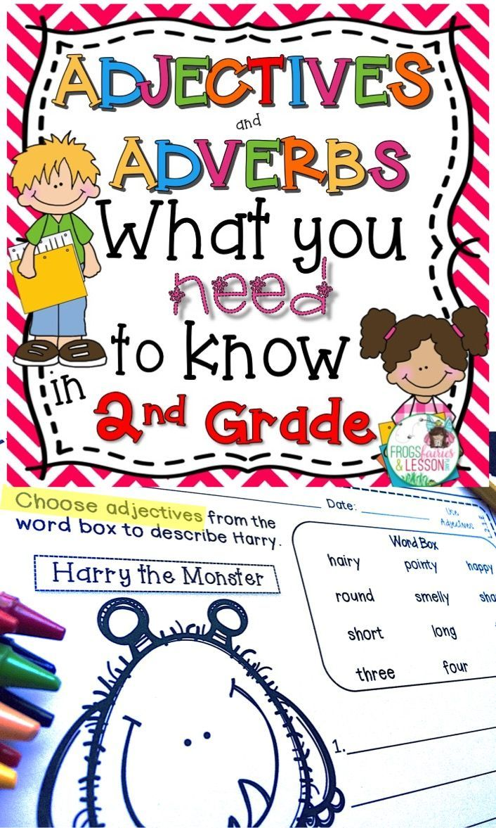 small resolution of Second Grade Adjectives and Adverbs practice worksheets AND Literacy Center  activities. This Common Core aligned resourc…   Adjectives