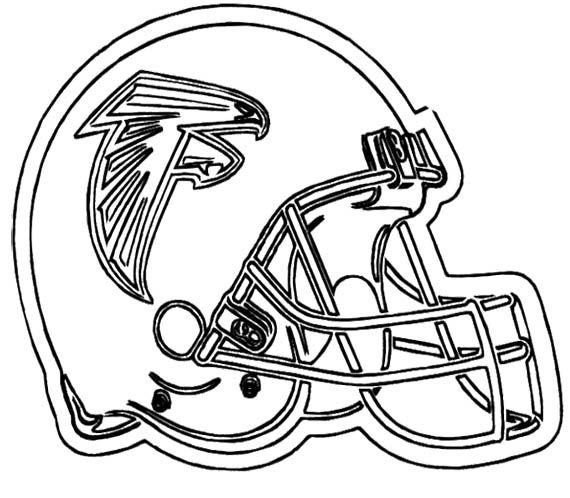 NFL Football Helmet For Games Coloring Page | Football ...