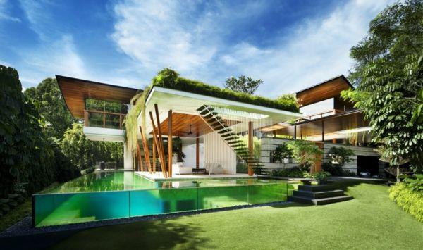 Le toit végétal en 77 photos Architecture - Facade Maison Style Moderne