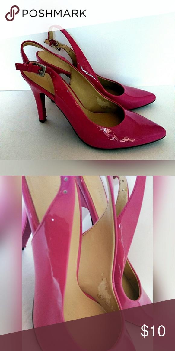 83598d7b3 Hot Pink Slingback High Heels 6 M Nine West In very good condition. Inside  shows minor peeling in both. Very gently worn. Nine West Shoes Heels