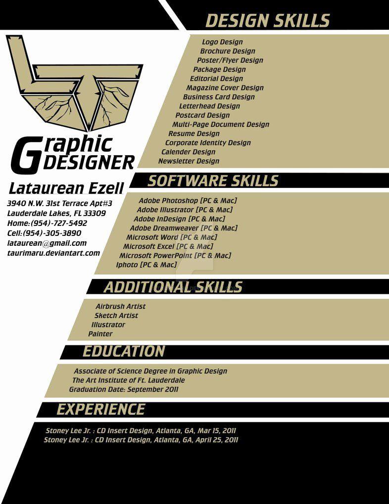 freelance graphic design resume skills