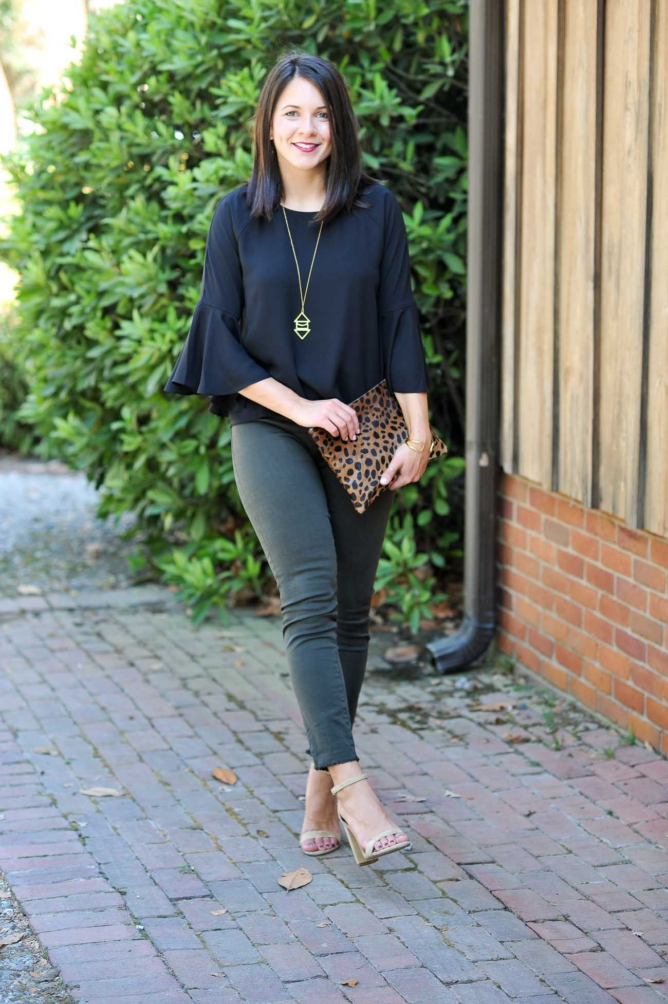 79724763 effortless outfits for a night out, fall outfit ideas, trumpet sleeve tops  - My Style Vita @mystylevita
