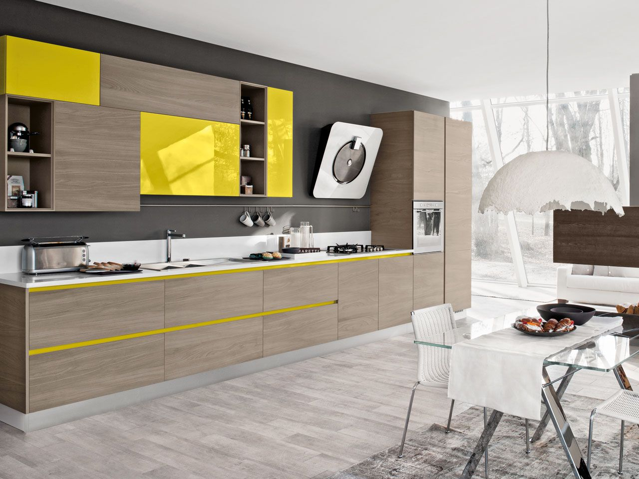 BRAVA Linear kitchen by LUBE INDUSTRIES S.R.L.   kitchen ...