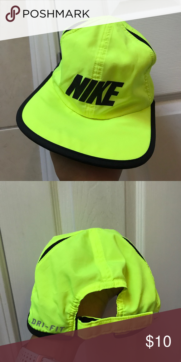 Adjustable Nike logo Running Hat in Neon. Adjustable Nike logo Running Hat  in Neon. Nike Accessories Hats 6d1a935cb96