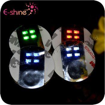Factory Wholesale Promotional Led Sticker Coaster LED Novelty