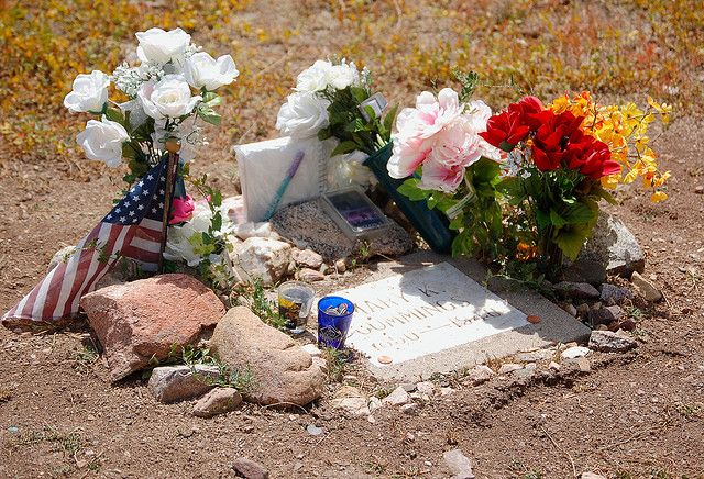 Big Nose Kate's Grave in the Arizona Pioneer Home Cemetery