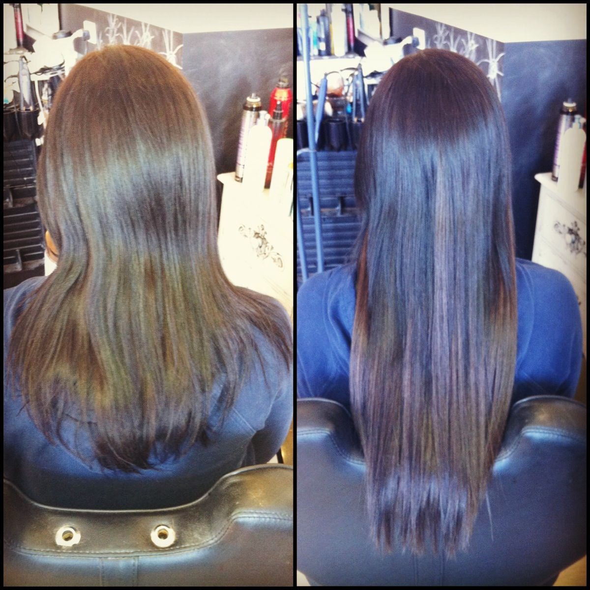Before After Donna Bella Tape In Hair Extensions Tape In Hair
