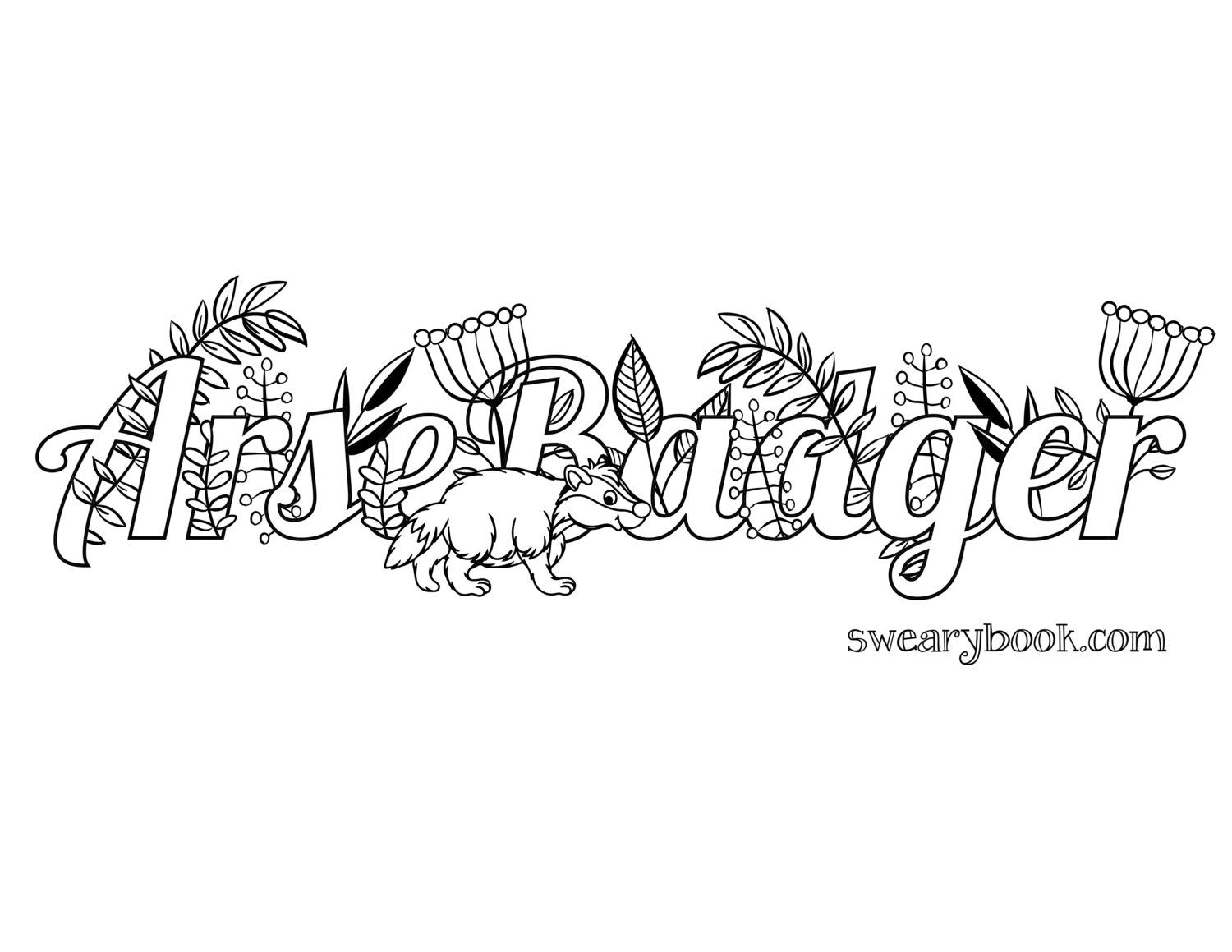 Y word coloring pages - Swearybookcom Jpg 1500 1159 Colouring