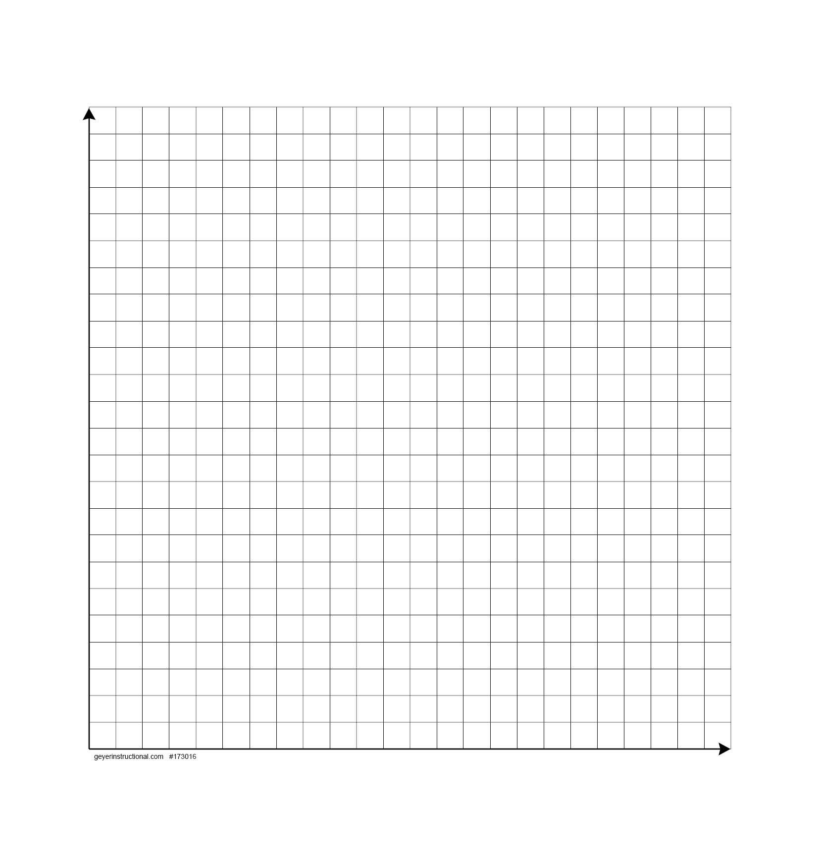 worksheet First Quadrant Grid dry erase graph magnet 24 x squares 1st quad math in the quad
