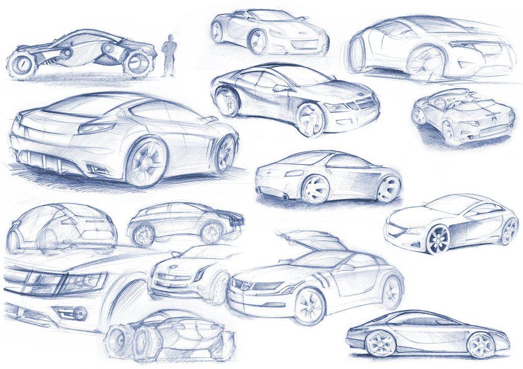 car sketches by gizmoaseth | 【Car】: thumb | Pinterest | Car sketch