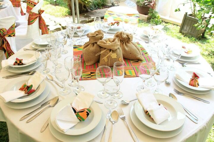 Deco de table pour mariage africain mariage africain - Decoration pour table de mariage ...