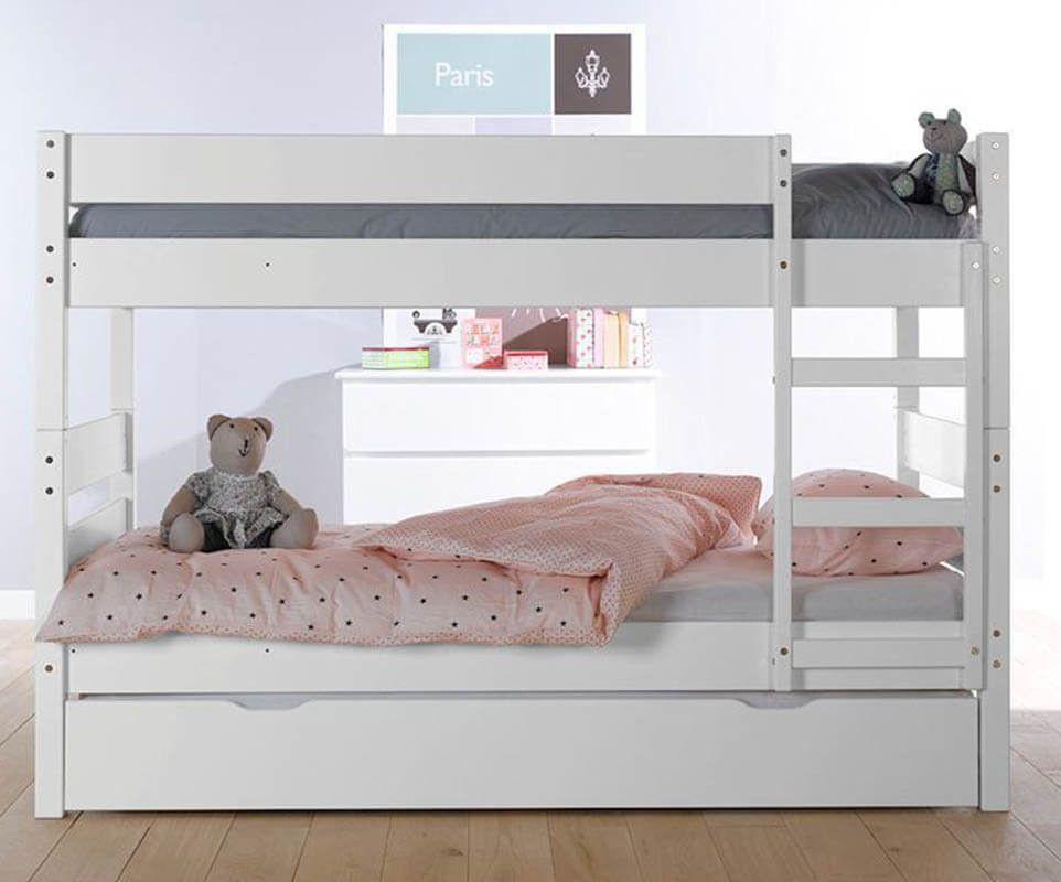 Kinder Etagenbetten 1,2,3 weiß Dormitorios, Camas
