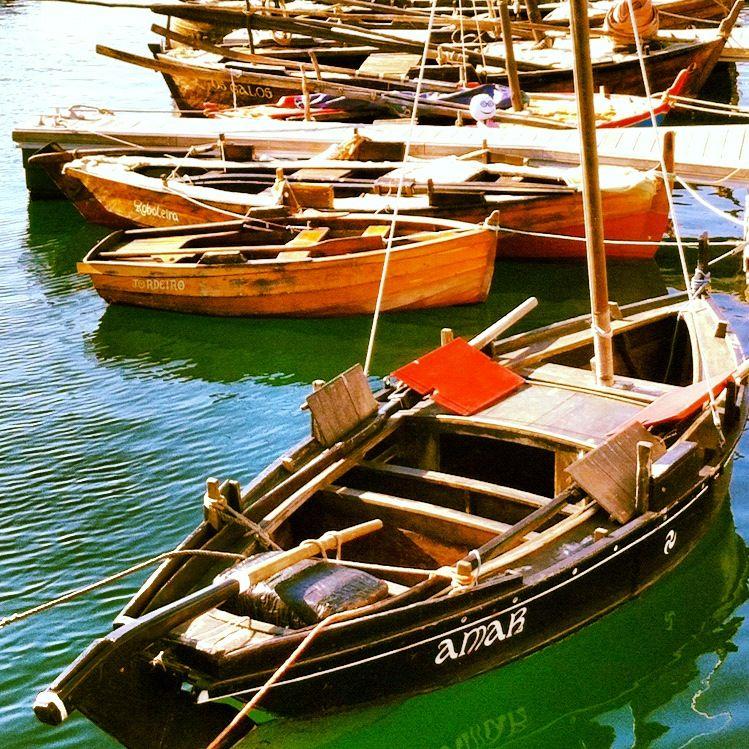 Embarcacións tradicionais en Bueu