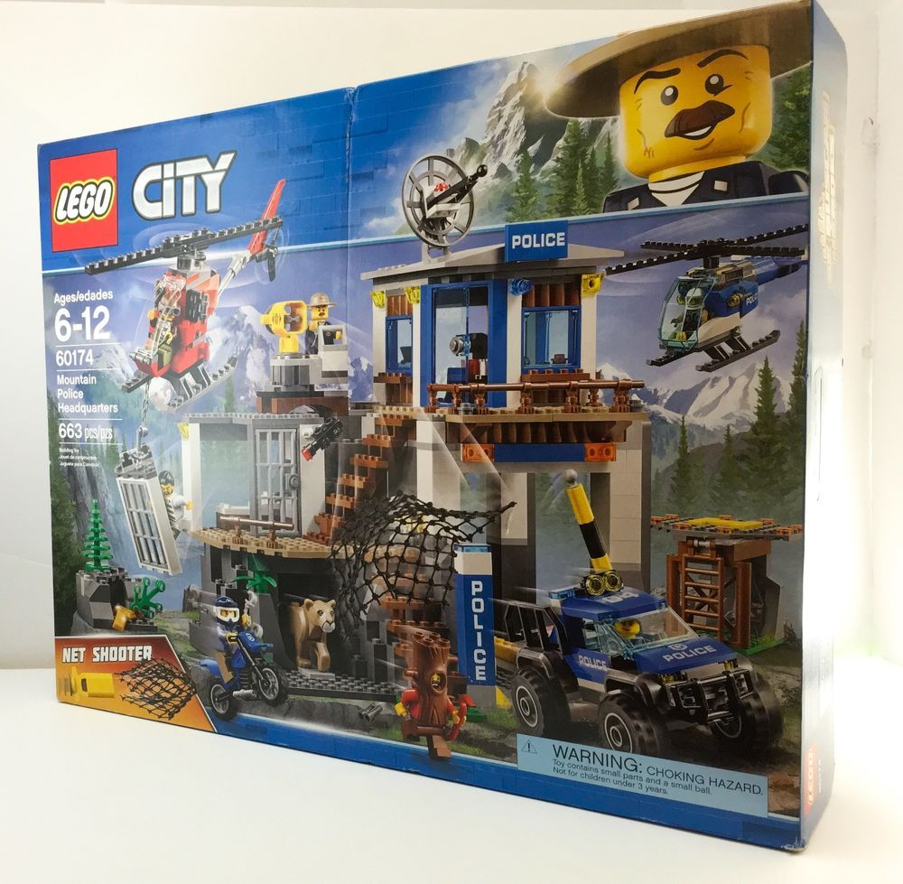 Complete Sets Lego City Police Mountain Police Headquarters 60174