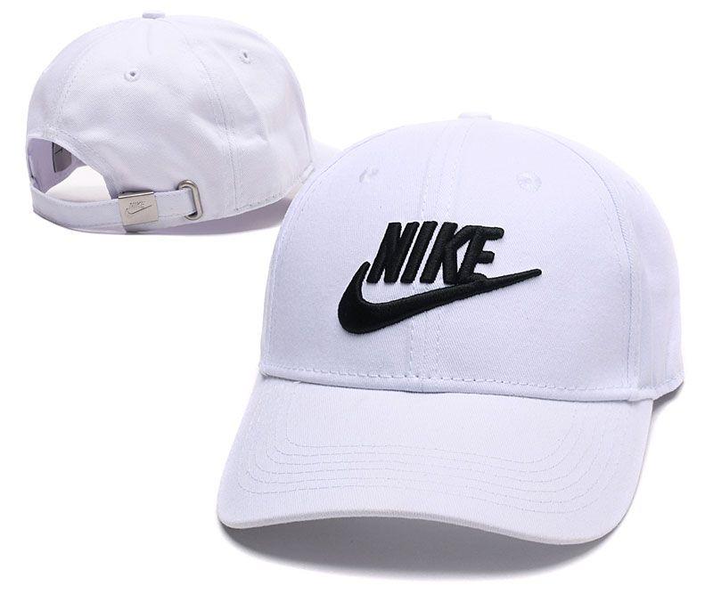af4e359f6b9 Men s   Women s Nike Black True Iconic Logo Embroidery Flexfit Hat - White