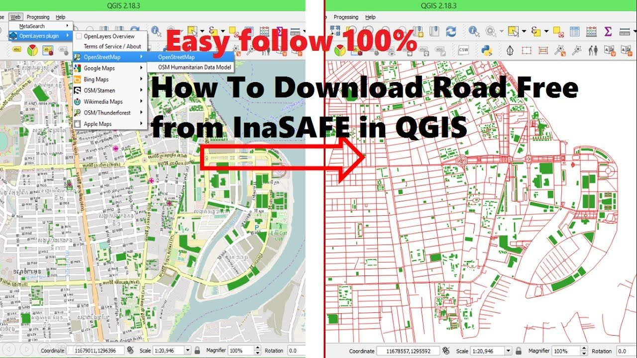 Download data free from inasafe | Download OSM Data to