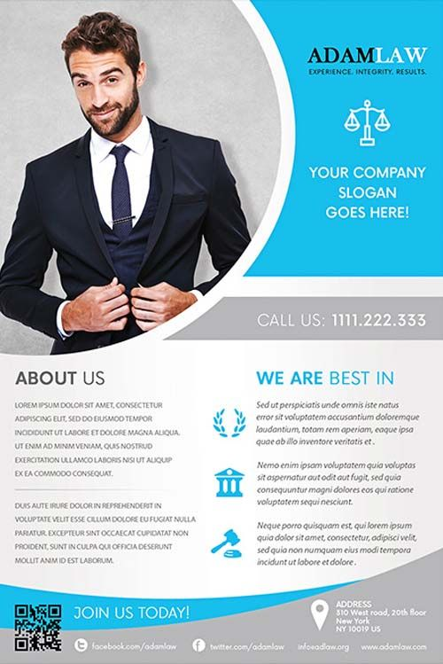 Lawyer Service Free Flyer Template - Http://Freepsdflyer.Com