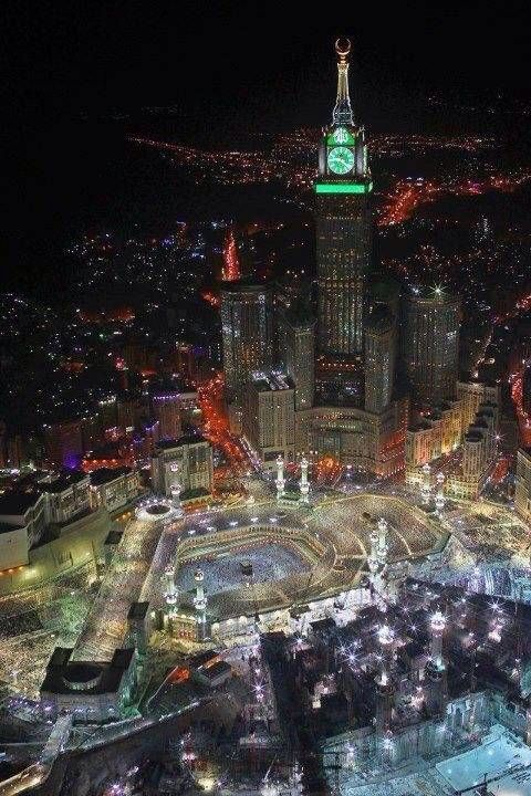 Mecca At Night My Iphone S Wallpaper Mecca Masjid Al Haram Mosque