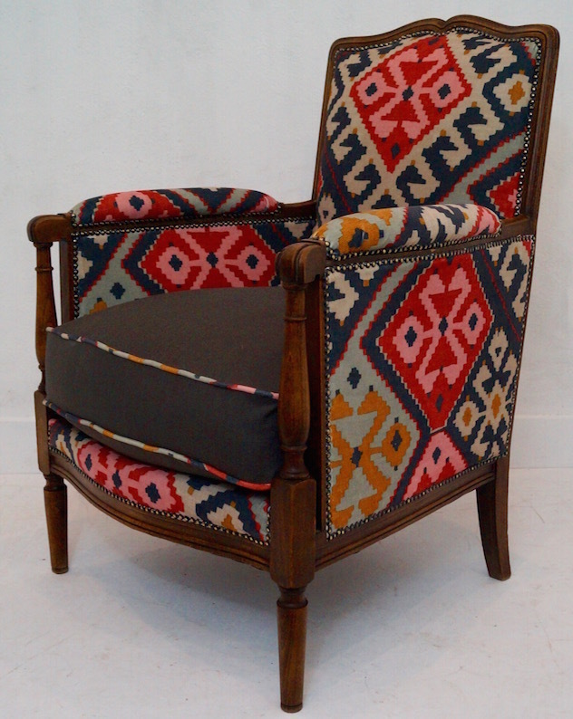 Antique French Upholstered Armchair | Upholstered arm ...