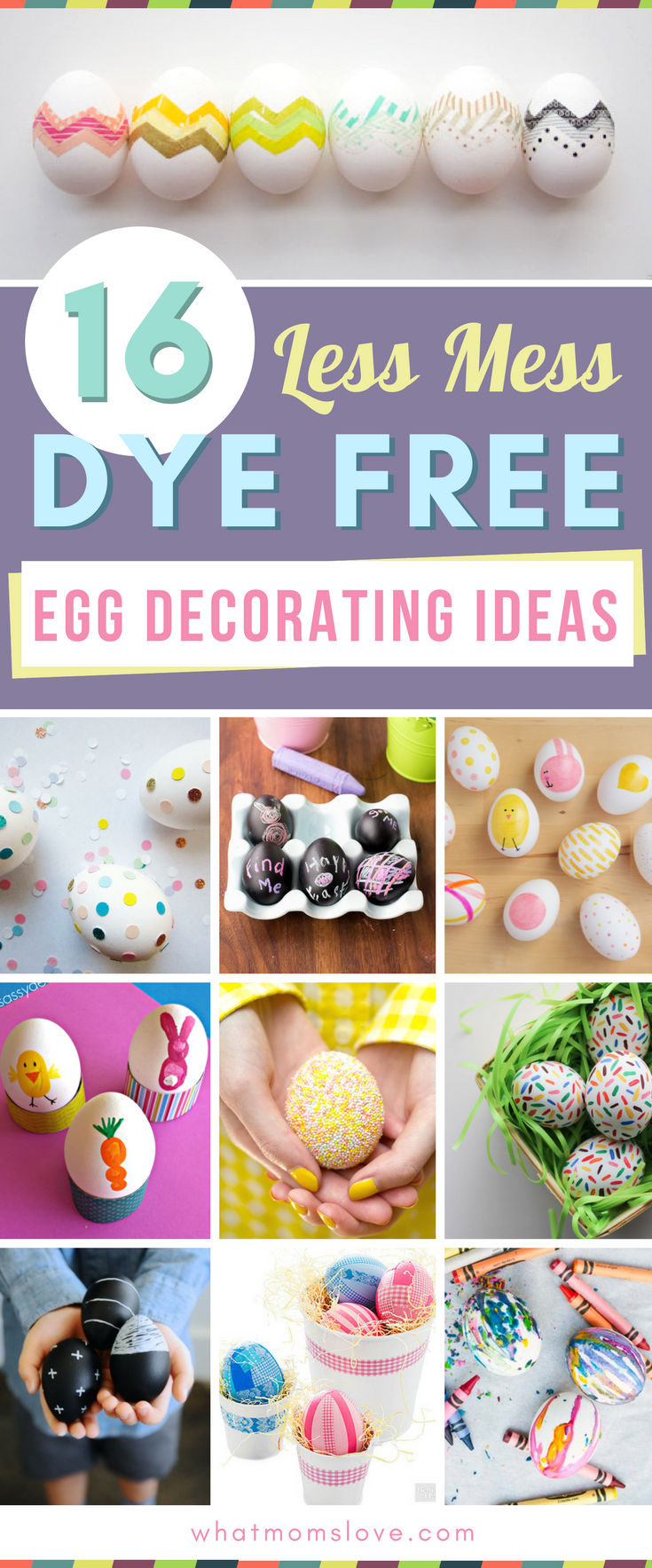 Easter egg decorating ideas for toddlers