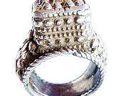 Antique Ethnic Burmese Ring Silver Handmade (#4904)