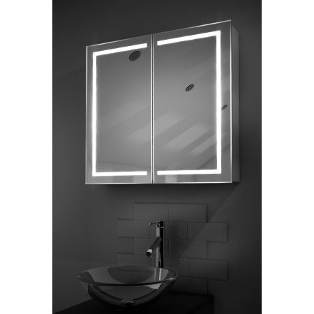 Aura 401 Led Bathroom Cabinet With Ambient Under Lighting Illuminated Bathroom Cabinets Mirror Cabinets Bathroom Mirror
