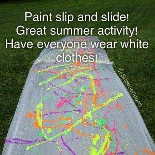 Paint slip & slide!