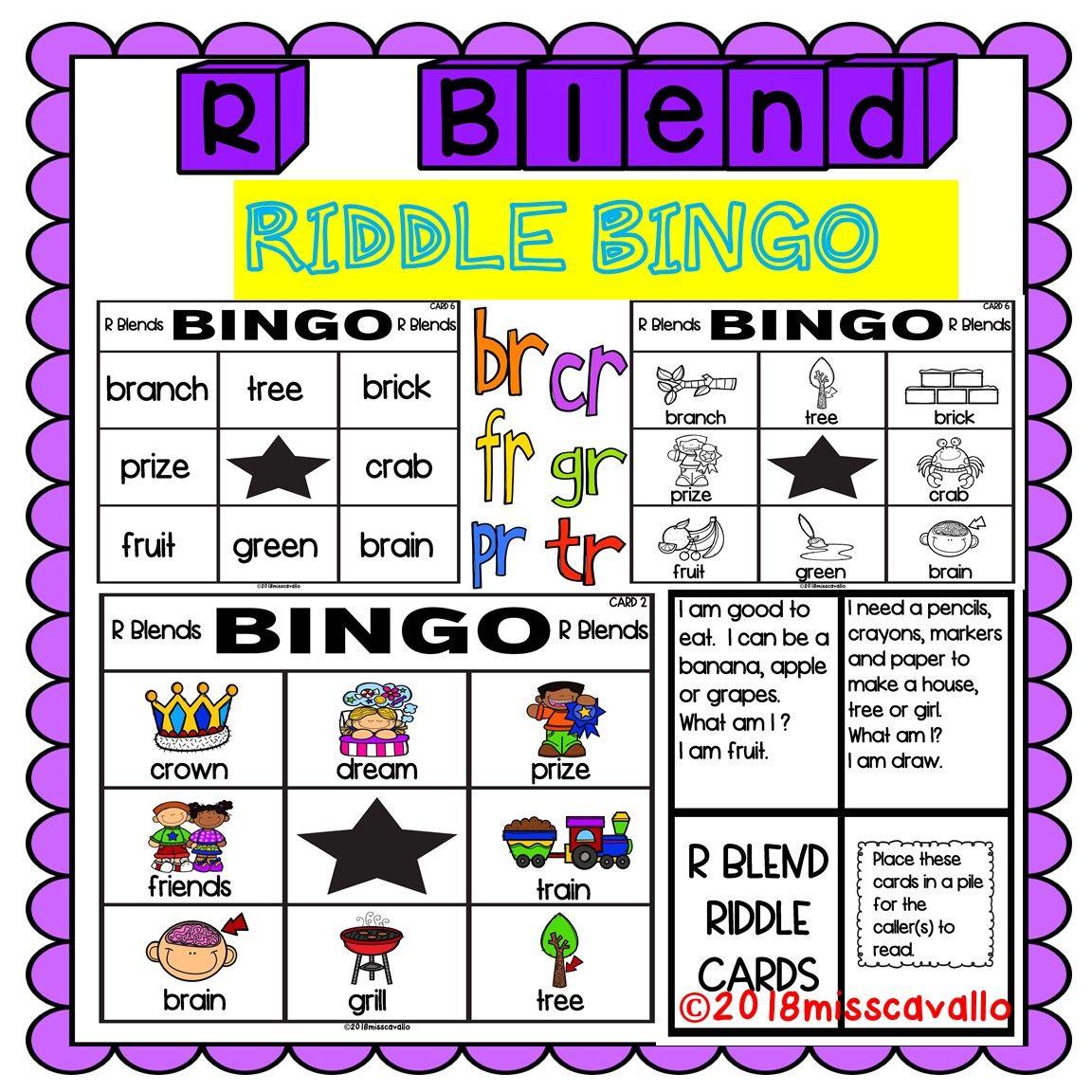 Br Cr Dr Fr Gr Pr Tr Bingo Card Game