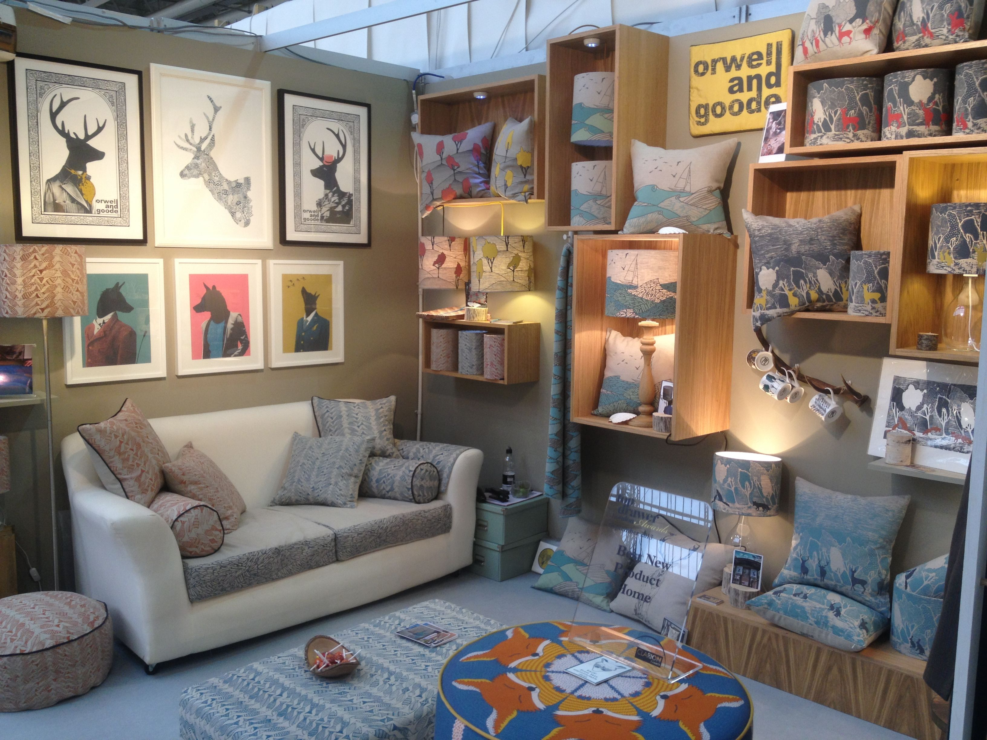Our trade stand at Top Drawer London Autumn 2013 orwellandgoode