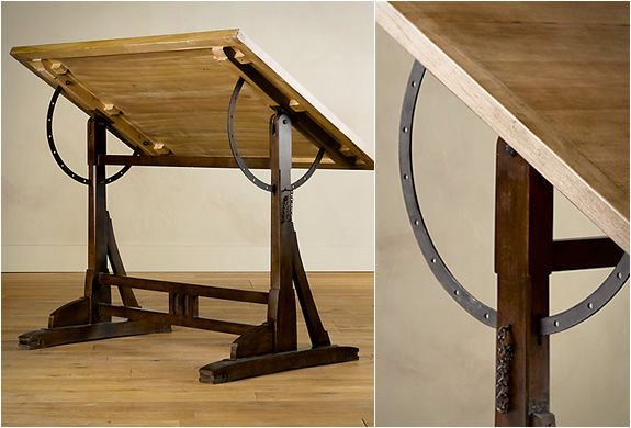 Bon 1920s French Drafting Table