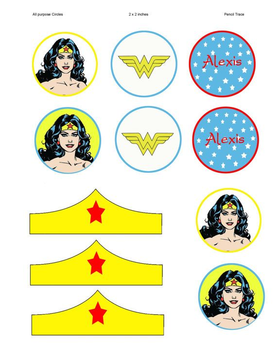 Wonder Woman Party Circles Para imprimir Pinterest Wonder