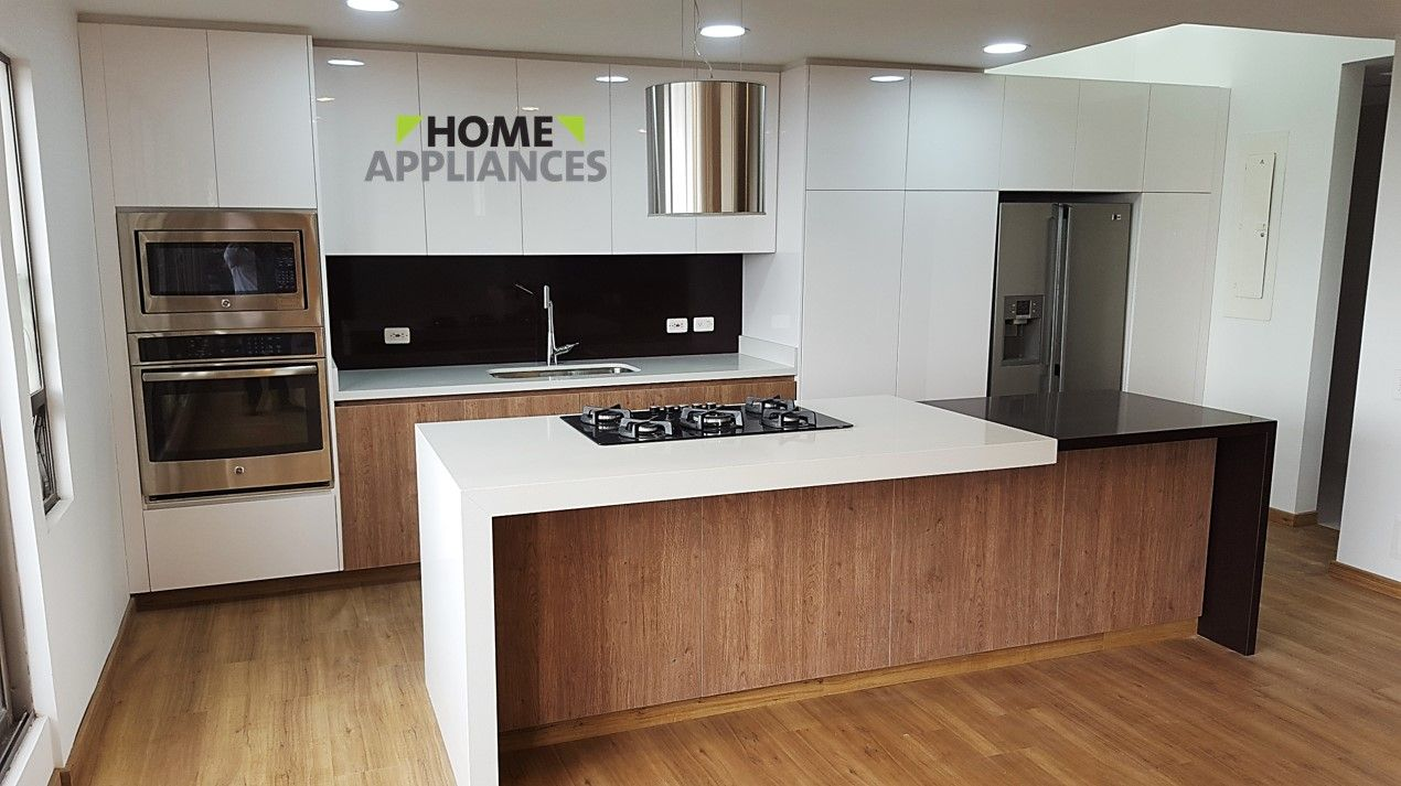 Cocinas integrales cocinas isla kitchen kitchendesign for Mueble para estufa