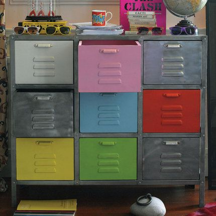 This is shown as toy storage but it would be so cute as a dresser for my three little guys :)